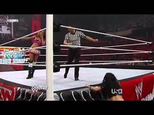 WWE Raw 08/09/10 Melina vs Alicia Fox
