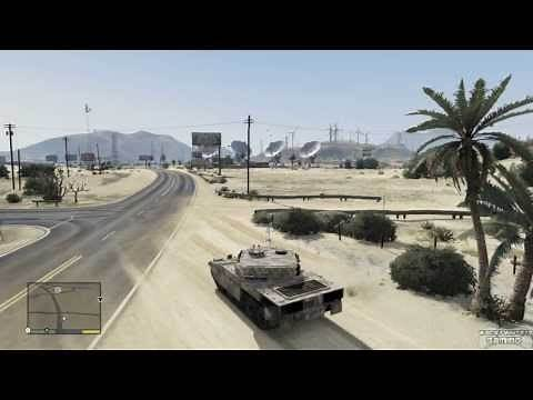 GTA 5 - How to find your purchased Tank as Trevor (w/ commentary)