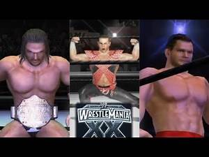 SHAWN MICHAELS VS CHRIS BENOIT VS TRIPLE H [WRESTLEMANIA 20 REMATCH] (WWE DAY OF RECKONING)
