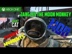 Fallout 4: Jangles the Moon Monkey/Giant Cats Mod - Funny Modded Moments (Xbox One)