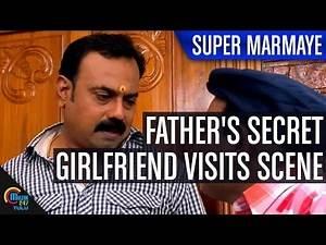 Super Marmaye Tulu Movie || Father's secret Girlfriend Visits Scene