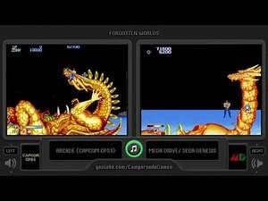 Forgotten Worlds (Arcade vs Sega Genesis) Side by Side Comparison   Vc Decide