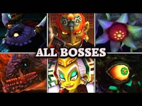 Zelda: Ocarina of Time 3D - All Bosses & Ending (No Damage)