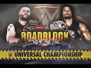 WWE Roadblock: End of the Line 2016 - Kevin Owens vs Roman Reigns WWE Universal Championship Match