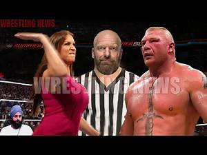 Brock Lesnar vs Stephanie McMahon Triple H Special Guest Referee