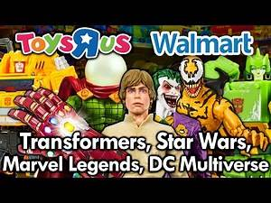 Toy Hunting at Walmart & Toys R Us Transformers | Star Wars | Marvel | DC Multiverse MJR Collector