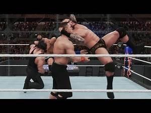 WWE 2K18 - The Rock vs John Cena vs Randy Orton vs Undertaker - Hell In A Cell Match Gameplay HD