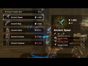 Zelda: Breath of the Wild - Ancient Weapons & Armour / Guardian Kill