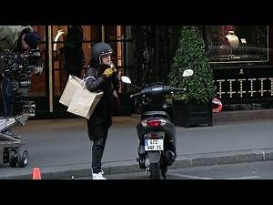 Kristen Stewart doing Motorbike on set of Personal Shopper in Paris - Part 2