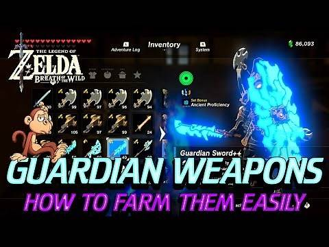 Zelda Breath of the Wild - How to Farm for Guardian Weapons