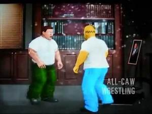 Homer Simpson vs Peter Griffin - All-CAW Wrestling Extra!
