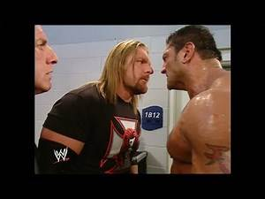 Triple H and Batista after Batista gets Disqualified: Raw, November 22, 2004