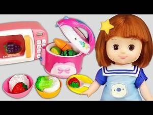 Baby Doli rice cooker and baby doll microwave oven kitchen story