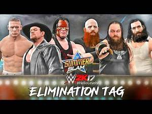 WWE 2K17 Undertaker Kane and John Cena vs Bray Wyatt Luke Harper and Erick Rowan - The Wyatt Family