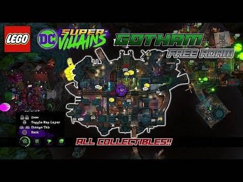 Lego DC Super-Villains: Gotham FREE ROAM (All Collectibles) - HTG