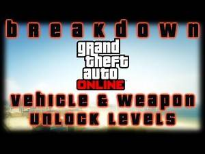GTA V ONLINE | INTRODUCTION | WEAPON & VEHICLE UNLOCK-LEVELS | RHINO TANK & BUZZARD | PS3 BUGS | HD
