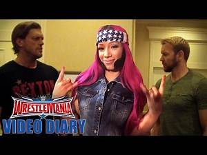 """Sasha Banks channels another """"Boss"""" with Edge & Christian: WrestleMania Diary, March 30, 2016"""