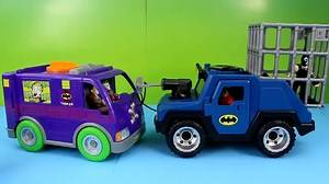 Imaginext Batman saves Robin from Joker Gorilla Grodd & Bane Gotham city Superheroes Just4fun290