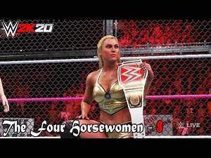 """WWE 2K20 - The Four Horsewomen Part 8 - """"Hell In A Cell - Charlotte Flair Vs Sasha Banks """""""