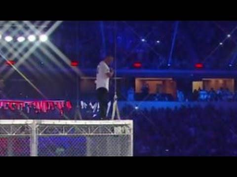 Shane McMahon Jumps Off 20 Foot Cage Wrestlemania 32