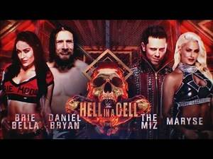 Daniel Bryan and Brie Bella Vs The Miz and Maryse | Hell In A Cell 2018 Official Match Card