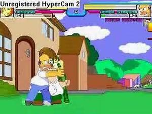 Hanshi Vanessa MUGEN Match #4: Homer V2.2 and Peter