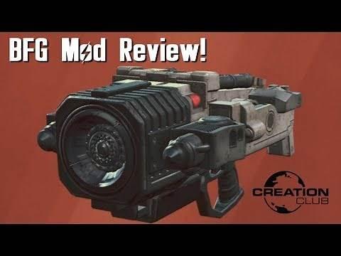 Fallout 4 Doom BFG Creation Club mod review!