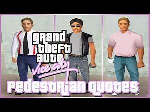 GTA Vice City Pedestrian Quotes : White Young Businessman, Golfer, Street Guys