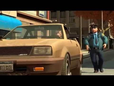 GTA 4 - Trolling fat cop (funny police officer)