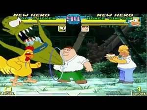Immortal Gaming Mugen HD Team Homer and Peter VS Team Kang and Big Chicken