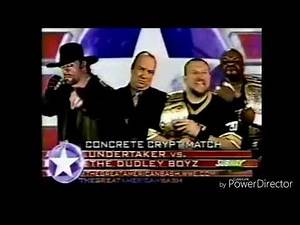 The Undertaker Vs The Dudley Boyz In The Handicap Concrete Crypt Promo The Great American Bash 2004