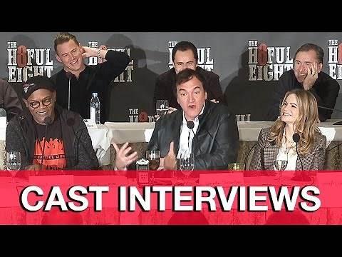 THE HATEFUL EIGHT Cast Interviews - Quentin Tarantino, Channing Tatum, Samuel L. Jackson