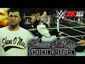 Shane McMahon shocking return on RAW to help Mr. McMahon - WWE 2K16 (PS4/XBOX ONE)
