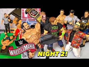 WWE WRESTLEMANIA 36 NIGHT 2 REVIEW & RESULTS! WWE ACTION FIGURE SET-UP!