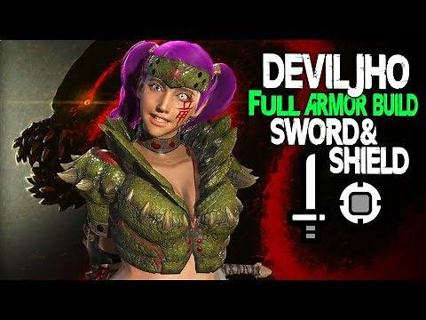 FULL ARMOR BUILD! Deviljho Set + Sword And Shield! Monster Hunter World Armor Builds