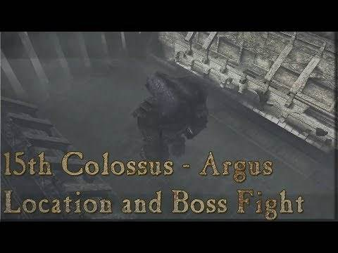 Shadow of the Colossus - 15th Colossus - Argus: Location and Boss Fight