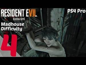 RESIDENT EVIL 7 - Hard Difficulty Gameplay Walkthrough Part 4 - Lucas Games & Boss l PS4 Pro