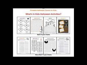 Printable Halloween Games Activities - 2017 - 11