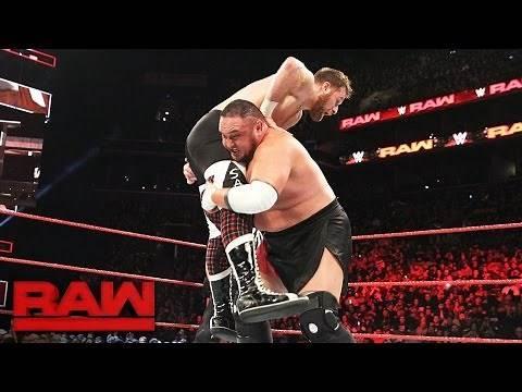 Sami Zayn vs. Samoa Joe: Raw, March 20, 2017
