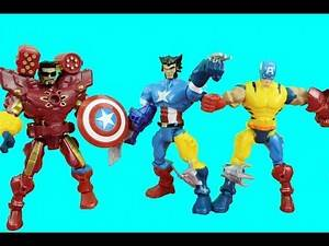 Marvel SuperHero Mashers Wolverine, Captain America, Ironman get Mashed-Up Just4fun290