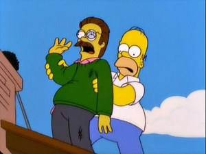 Flanders gets killed (The Simpsons)