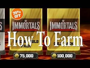 WWE Immortals - Farming Quick Easy Coins - 32k in 24mins