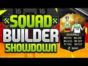 FIFA 16 SQUAD BUILDER SHOWDOWN!!! STRIKER INFORM SCHURRLE!!!! The Best Striker On Fifa 16!?!