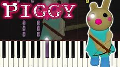 Piggy ROBLOX Bunny Soundtrack Song on PIANO