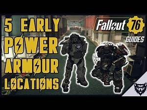 FALLOUT 76 - 5 EASY/EARLY Power Armour Locations (2018)
