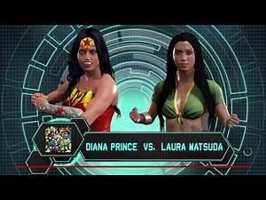 WWE 2K17 Wonder Woman vs. Laura Matsuda - Submission Match