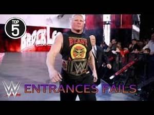 Top 5 : WWE Entrances Fails