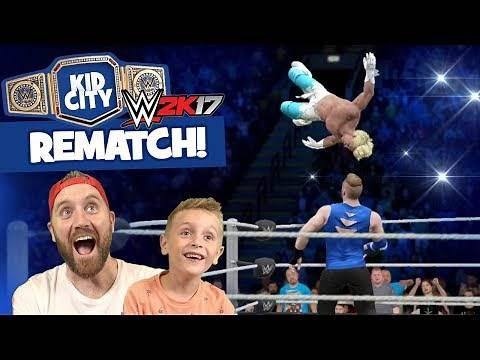 WWE 2k17 REMATCH: Lil' Flash vs DadCity Family Battle for the KIDCITY TITLE!