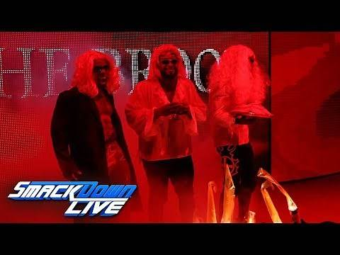 The New Day dress as The Brood in an Attitude Era Halloween tribute: SmackDown LIVE, Oct. 30, 2018