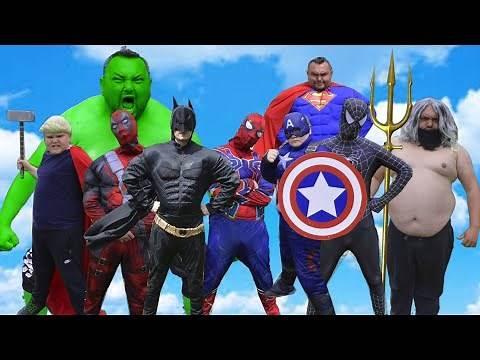 Hulk VS Batman VS Superman VS Captain America VS Spider-man VS Black Spider-man VS Aquaman VS Thor